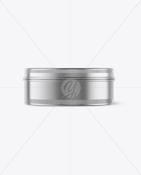 موکاپ قوطی فلزی گرد و دایره