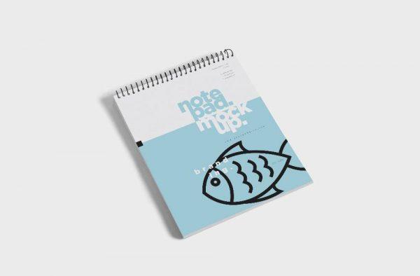 موکاپ سه دفترچه یادداشت سیمی