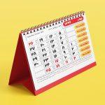 دانلود تقویم 99 با فرمت PSD و INDD برای فتوشاپ و ایندیزاین (طرح 6)