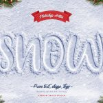 موکاپ لوگو و نوشته روی برف و یخ (اکشن موکاپ)