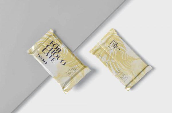 موکاپ فویل و بسته بندی شکلات تخته ای
