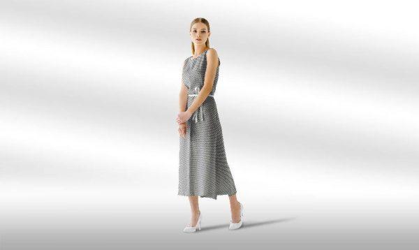 موکاپ لباس ماکسی و بلند زنانه