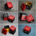موکاپ جعبههای مکعبی (۶ موکاپ)