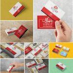 مجموعه موکاپ کارت ویزیت / Business Card Mockups