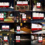 موکاپ بیلبورد و تابلوی تبلیغاتی در شب (۱۲ موکاپ)