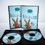 موکاپ قاب و کاور محافظ DVD به صورت باز و بسته (۴)