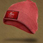 موکاپ لوگو روی کلاه پشمی و کاموایی