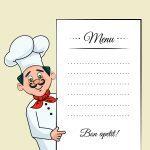 دانلود وکتور سرآشپز و منوی غذا