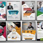 ۱۰۰ فایل لایهباز حرفهای تراکت، فلایر و برگههای تبلیغاتی