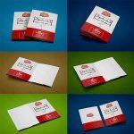 ۶ موکاپ بروشور و کاتالوگ و کارت پستال و کارت دعوت | ۲ لت