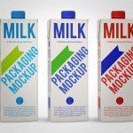 موکاپ واقعگرایانه بستهبندی شیر، آبمیوه و… (طرح ۳)