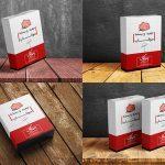 موکاپ جعبه و بستهبندی محصول (۴ موکاپ)