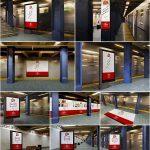 ۱۰ موکاپ تابلو و بنر تبلیغاتی در زیرگذر مترو