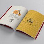 موکاپ صفحات داخل کتاب باز شده (کتاب قطور سری 6)
